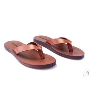 Jivanas Mocha Brown on Mocha Brown Sandals